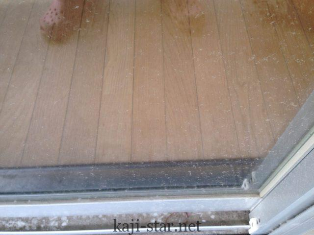 外側の窓ガラスの汚れ